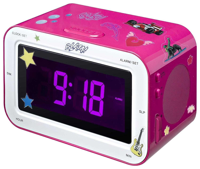 BigBen RR30 Kids Radio Alarm Clock - Pink AU292756