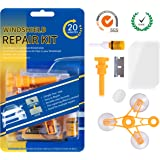 cobcobb Windshield Repair Kit – Auto Glass Crack Repair tools with Upgraded Repair Resin for Car Windshield Crack Crater Chip and Scratch Fixing(Black)
