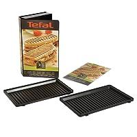 Tefal XA800312 Snack Collection Coffret de Plaque pour Grill Panini avec Livre de Recettes 4,4 x 15,5 x 24,2 cm