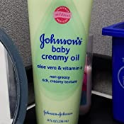 Amazon Com Johnson S Baby Oil Creamy Aloe Amp Vitamin E 8