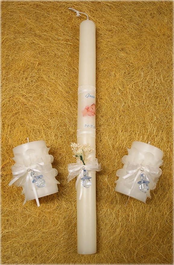 Velas de bautizo personalizadas-Set de velas de bautizo ...