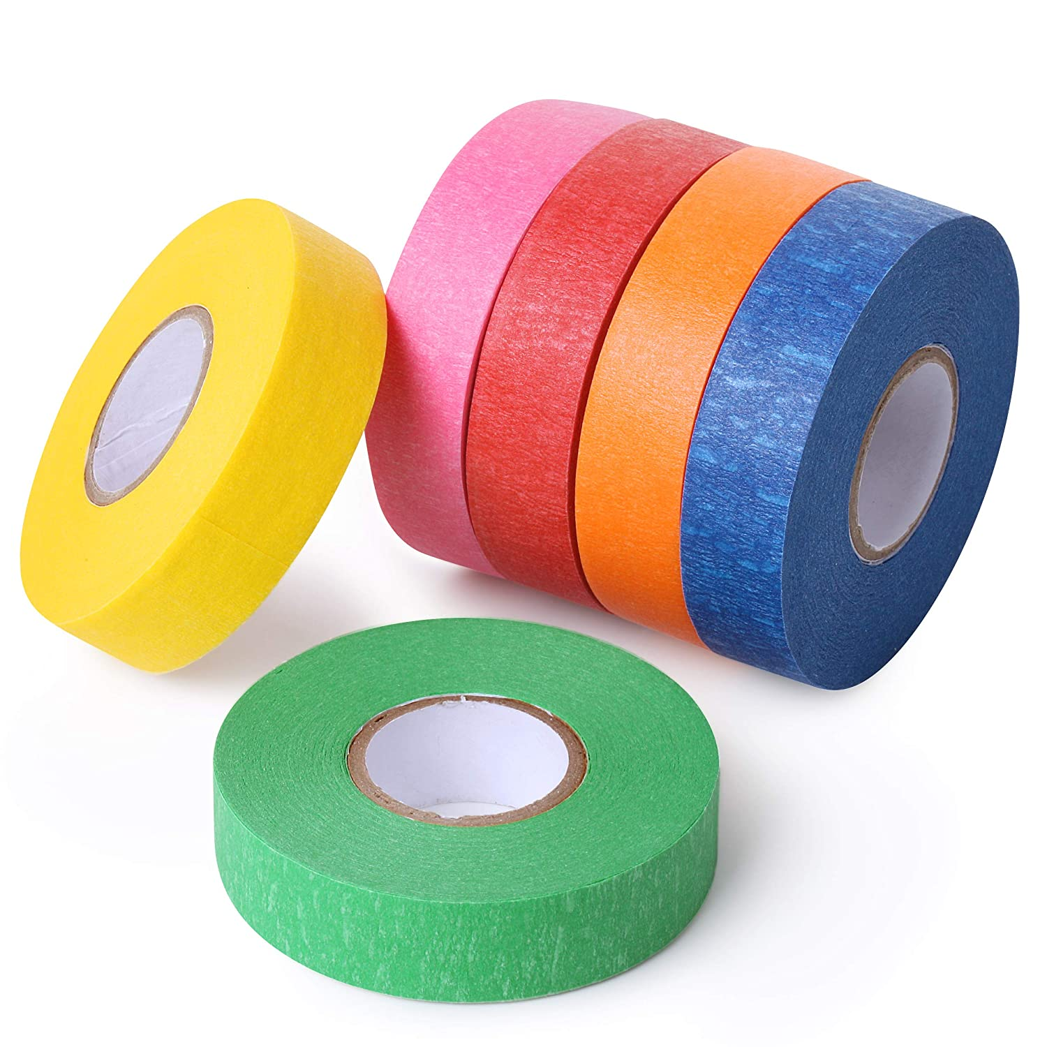 Mr. Pen- Colored Masking Tape, Colored Painters Tape for Arts and Crafts, 6 Pack, Drafting Tape, Craft Tape, Labeling Tape, Paper Tape, Masking Tape, Colored Tape, Colorful Tape, Artist Tape, Art Tape