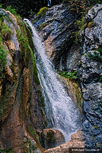 Waterfall In Nature Wild Photography Poster Print Wallpaper High Resolution