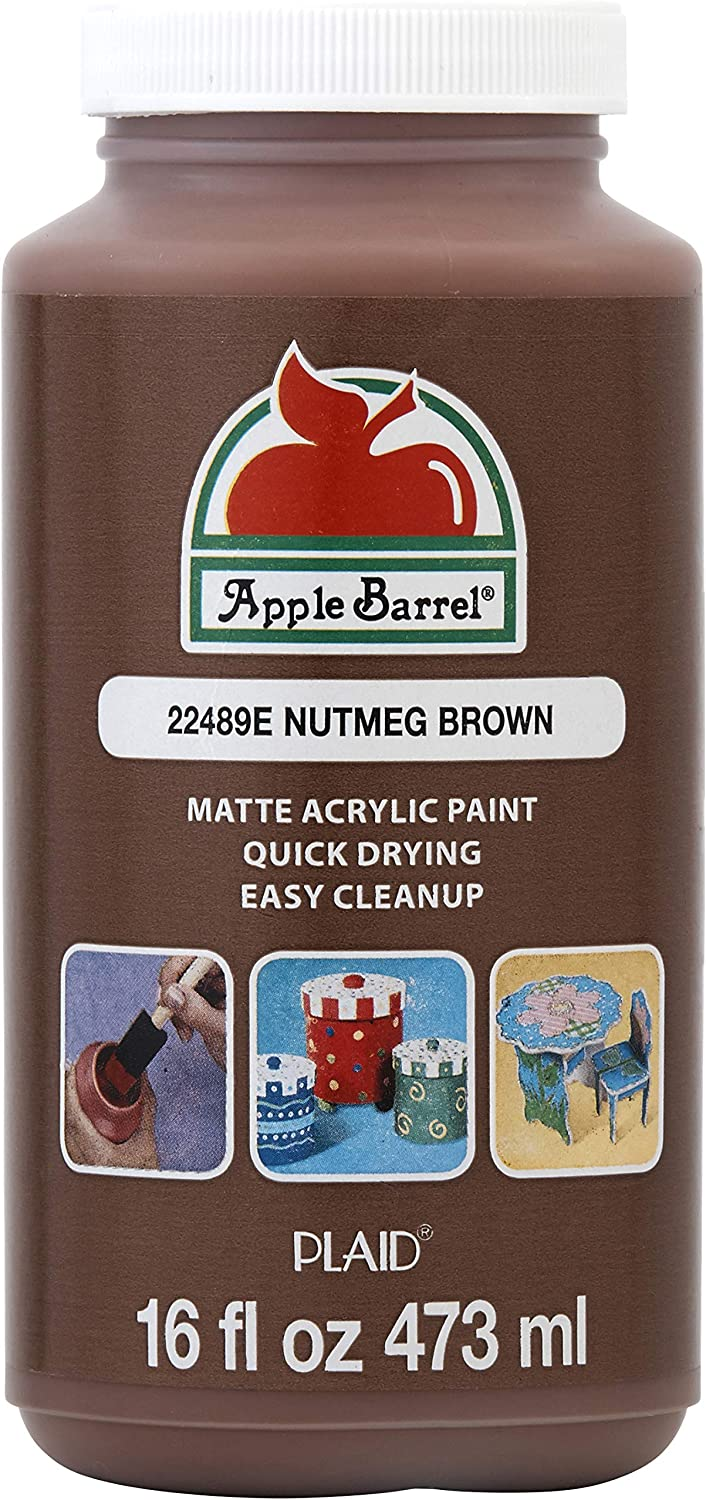 Apple Barrel Paint Acrylic, 16 oz, Nutmeg Brown
