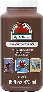 Apple Barrel Paint Acrylic, 16 oz, Nutmeg Brown