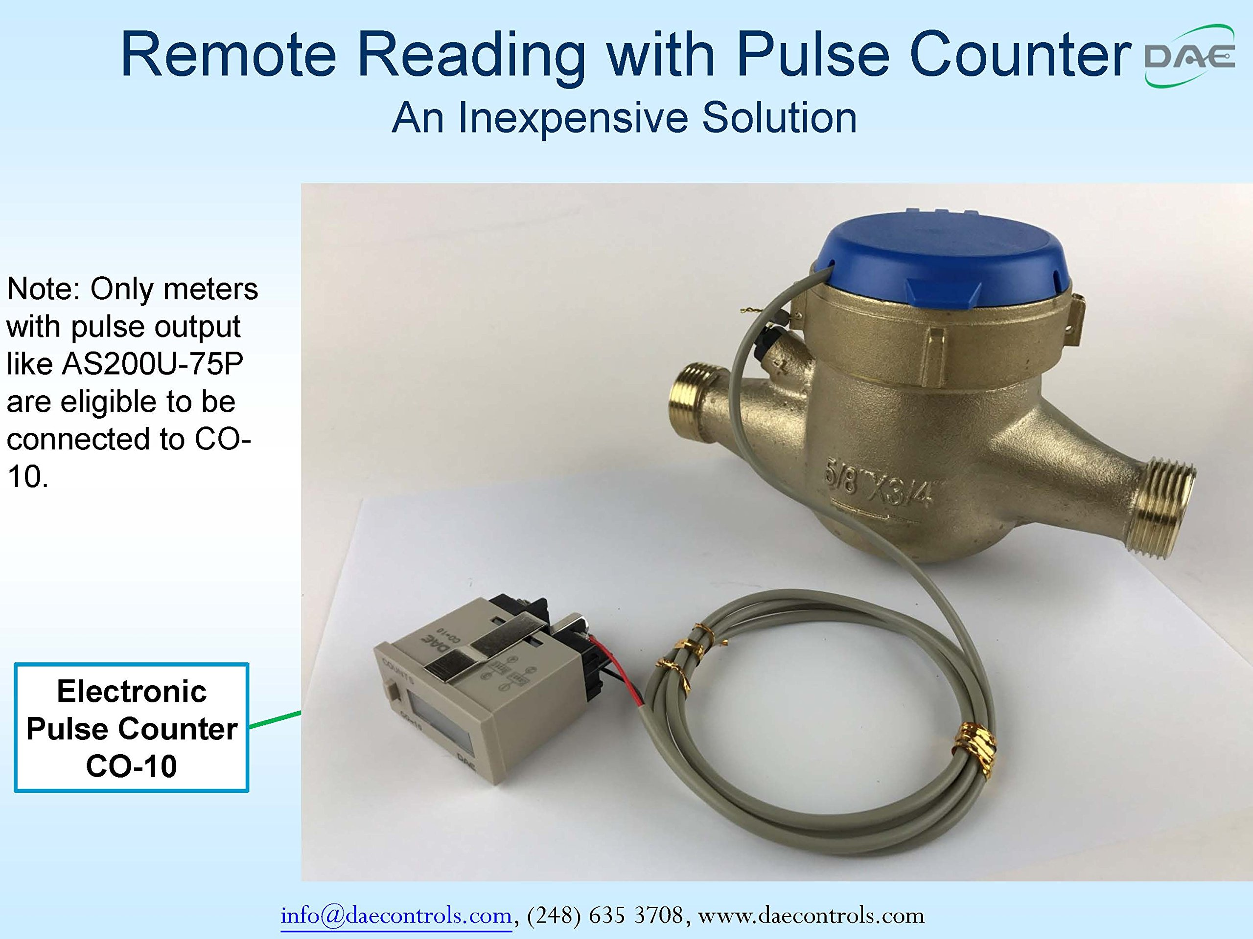 """DAE AS320U-150P 1-1/2"""" Water Meter with Pulse Output, Measuring in Gallon + Coupling by DAE (Image #6)"""