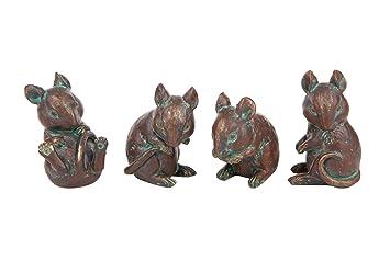 London Ornaments Lo7512076 Dekofiguren Mäuse 4 Stück