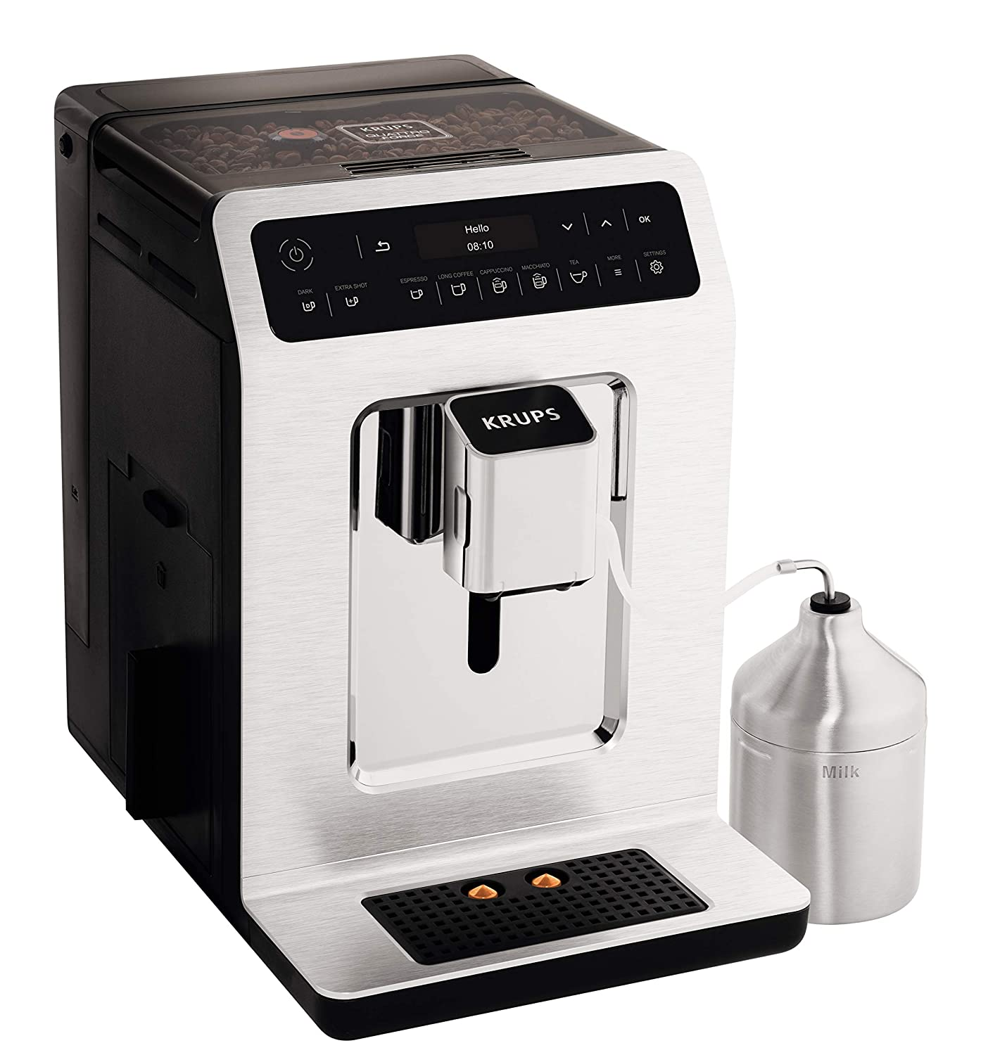 Krups Evidence Ea893C40 Automatic Espresso Bean To Cup Coffee Machine,