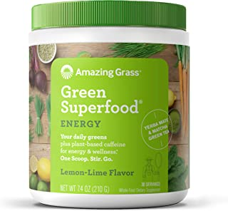 product image for Amazing Grass Green Superfood Energy: Super Greens Powder & Plant Based Caffeine with Matcha Green Tea, Lemon Lime, 30 Servings