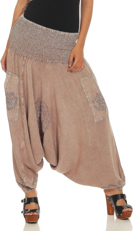 LEENA Pantalones de har/én Haremshose Bloomers de Las Mujeres Pantalones de Yoga de Aladdin Pantalones