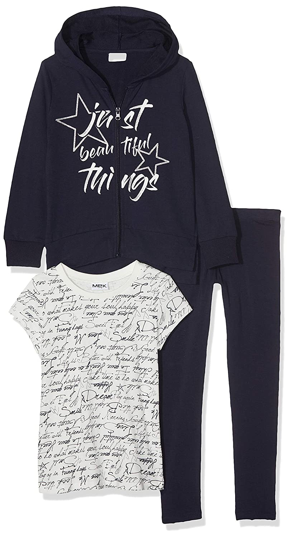 Top Felpa E Leggings E T-Shirt Mek Completo 3 Pezzi