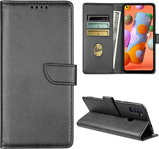 6.4 inch Samsung Galaxy A11 Case,Galaxy A11 Wallet Case with Card Holder,Magnetic Stand Leather Flip Case Cover for Samsung Galaxy A11 Black 2020