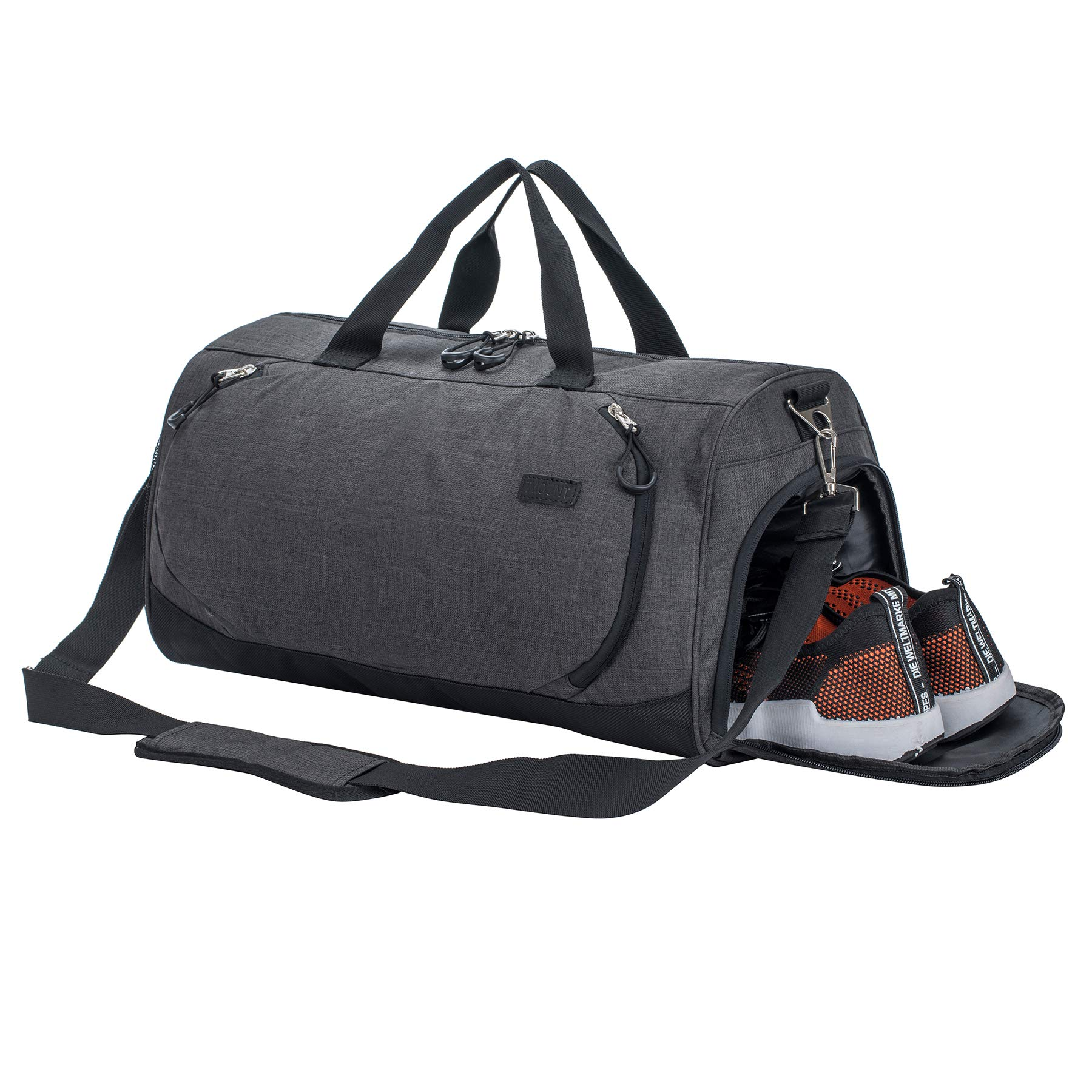 Sport Gym Bag Travel Duffel Bag with Shoe Compartment and Dry Wet Separation Layer for Men & Women