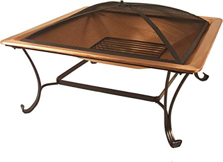 HAMMERED COPPER FIRE PIT Grill Set w// Cover Outdoor BBQ Patio Furniture Firepit