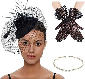 Purple Silver Feather Pillbox Hat Fascinator Hair Clip Races Vtg Wedding 3278