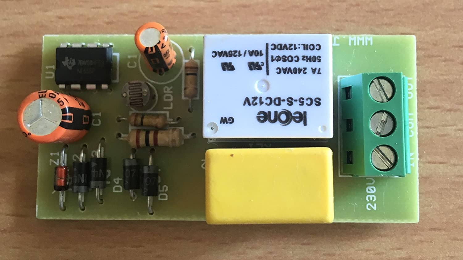 Buy Jr Electrokits Automatic Day Night On Off Switch Dusk Dawn Photocell Sensor Further Fluorescent Light Fixtures Wiring Diagram Photoelectric 220v Ac Online At Low Prices In India