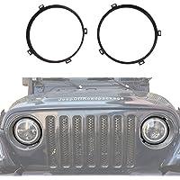 "u-Box 7"" Headlight Mounting Bracket Ring Black Round 1997-2006 Jeep Wrangler TJ & Wrangler Unlimited"