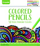 Crayola Colored Pencils, 50 Count Set, Pre-sharpened,Drawing Supplies,Vibrant Colors
