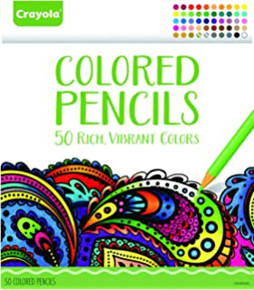 Crayola Colored Pencils 50 Count Set Pre Sharpened
