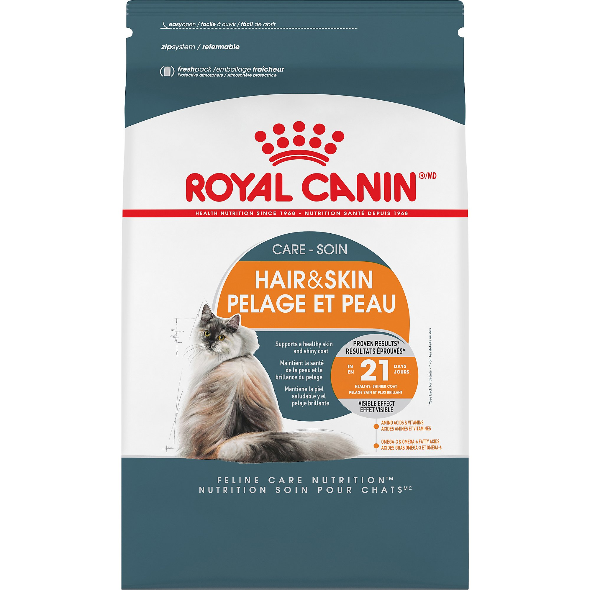 Royal Canin Feline Care Nutrition Hair & Skin Care Adult Dry Cat Food, 3.5 lb