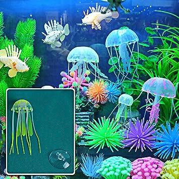 Méduse artificial plástico, para decoración, diseño de pecera y el depósito de peces ornamentales: Amazon.es: Hogar