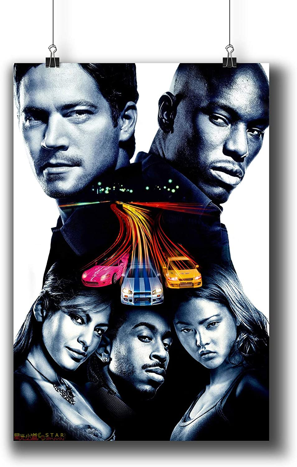 Amazon Com 2 Fast 2 Furious 2003 Movie Poster Small Prints 423 202 Wall Art Decor For Dorm Bedroom Living Room A3 11x17inch 29x42cm Posters Prints
