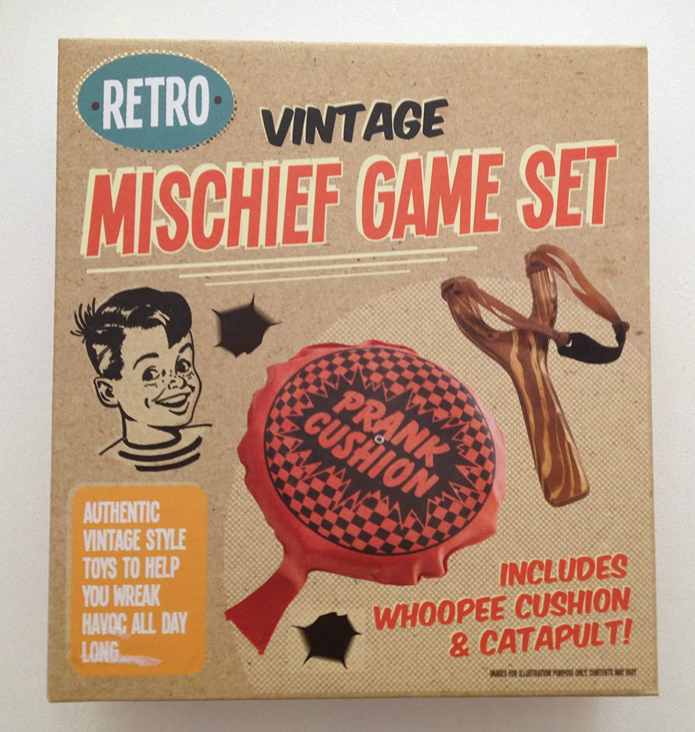 Retro Vintage Mischief Game set include Petofoni & catapulta New Xmas Gift – free P & P