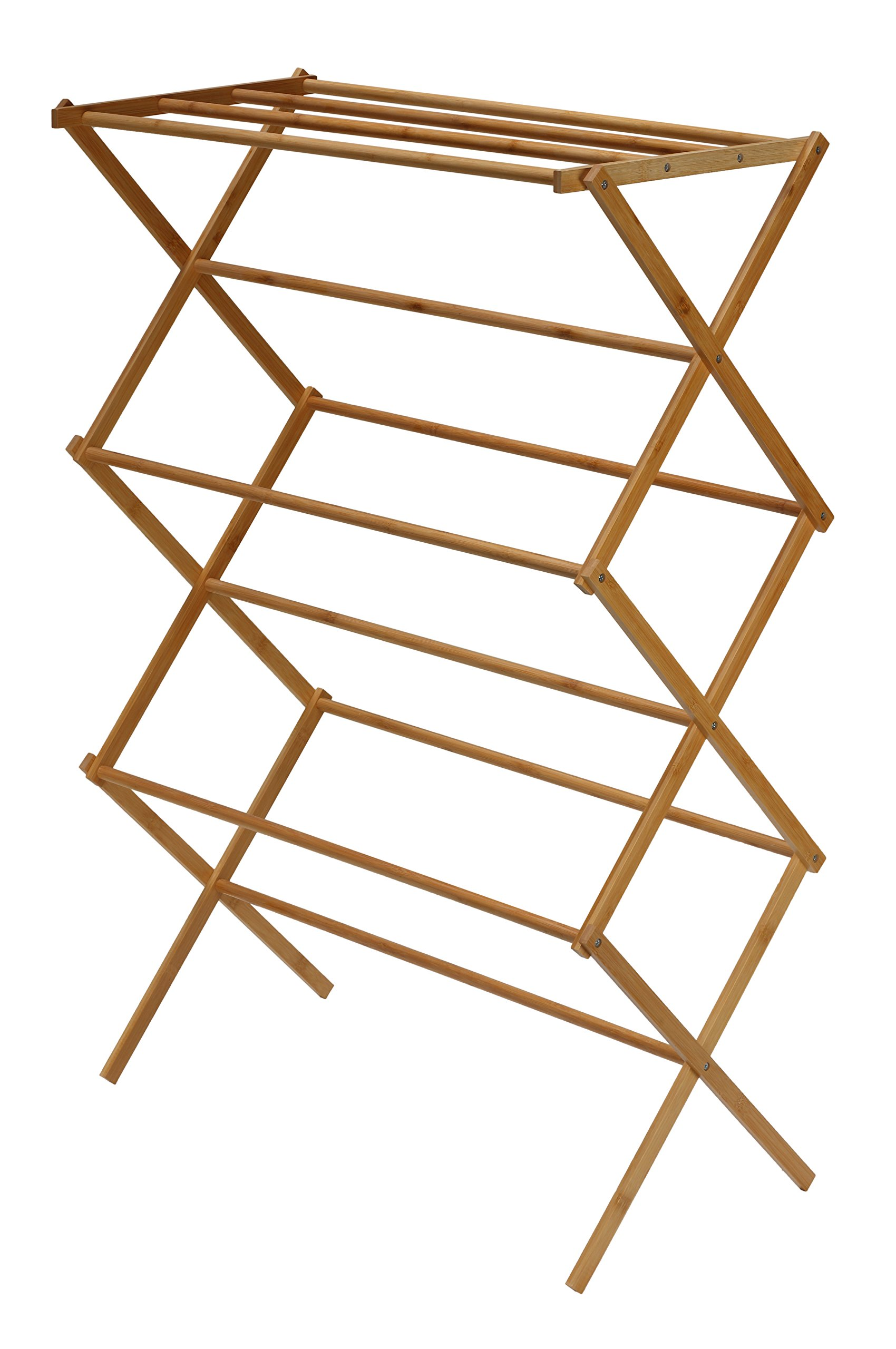 Cortesi Home Eli Natural Bamboo Clothing Drying Rack, 28.5'' W x 14.5'' L x 43'' H