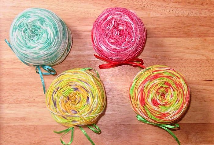 Calcetines de lana / teñidos a mano / 4 veces / filamento / único / 4