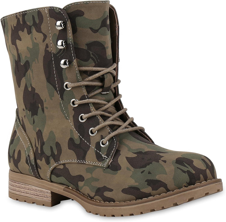 Stiefelparadies - Botas Militar Mujer: Amazon.es: Zapatos y ...