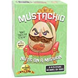 Mustachio by Gatwick Games | Mustaches Now Included | A Strategy Game of Trickery & Scheming Nuts! Funny Board Games for Teen
