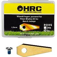 HRC Cuchillas de Titanio, Cuchillas de Repuesto, Cuchillas para cortacéspedes robóticos Bosch INDEGO, Cuchillas…