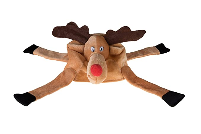 9d5a65273adff Amazon.com  Clever Creations Christmas Reindeer Hat One Size Fits Most  Christmas Hat for Both Kids and Adults  Clothing
