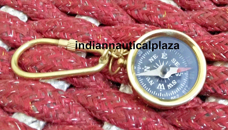 真鍮コンパスヴィンテージNauticalキーリングGood Gift B0799Q1RQT