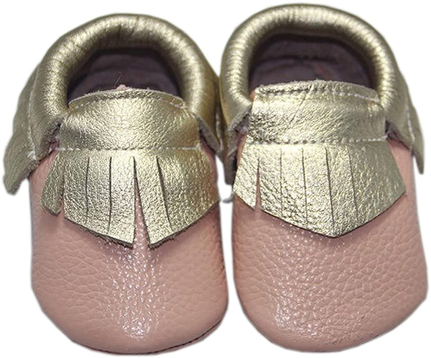 HuoGuo Baby Girls Pearly-Lustre Tassels Crib Soft Sole Leather Infant Toddler Prewalker Sneakers