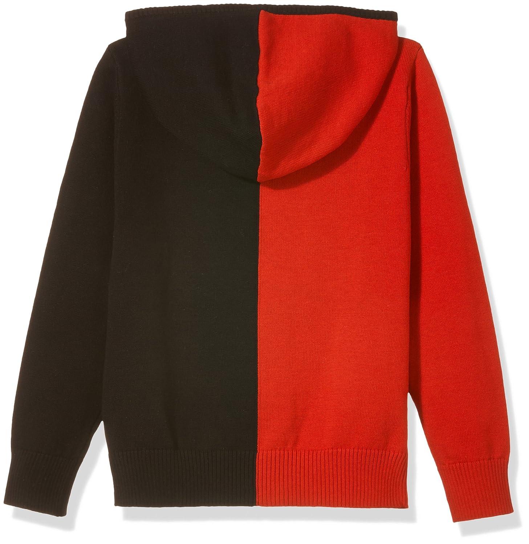 Kid Nation Kids Long Sleeve Color Block Zip Hoodie Sweater for Boys or Girls
