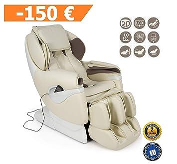 SAMSARA® Sillon de masaje 2D - Beige (modelo 2019) - Sofa masajeador ...