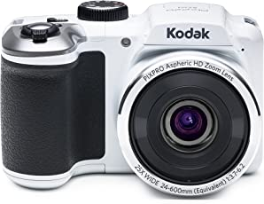 "Kodak PIXPRO Astro Zoom AZ251 16 MP Digital Camera with 25X Optical Zoom and 3"" LCD Screen (White)"