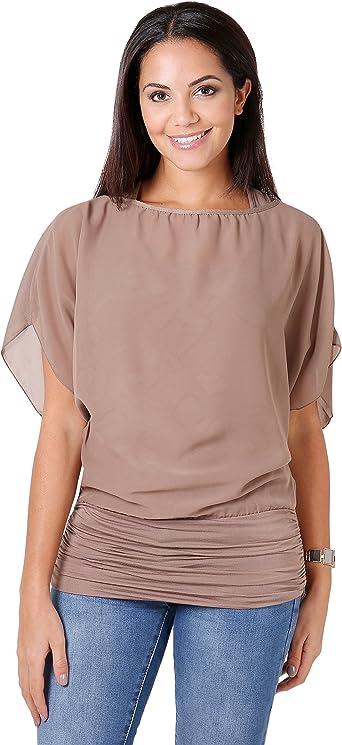 KRISP Blusas Camisas Mujer Elegante Grande Top Bonita Fiesta Transparente Juvenil Tallas Grandes Fiesta Moda: Amazon.es: Ropa y accesorios