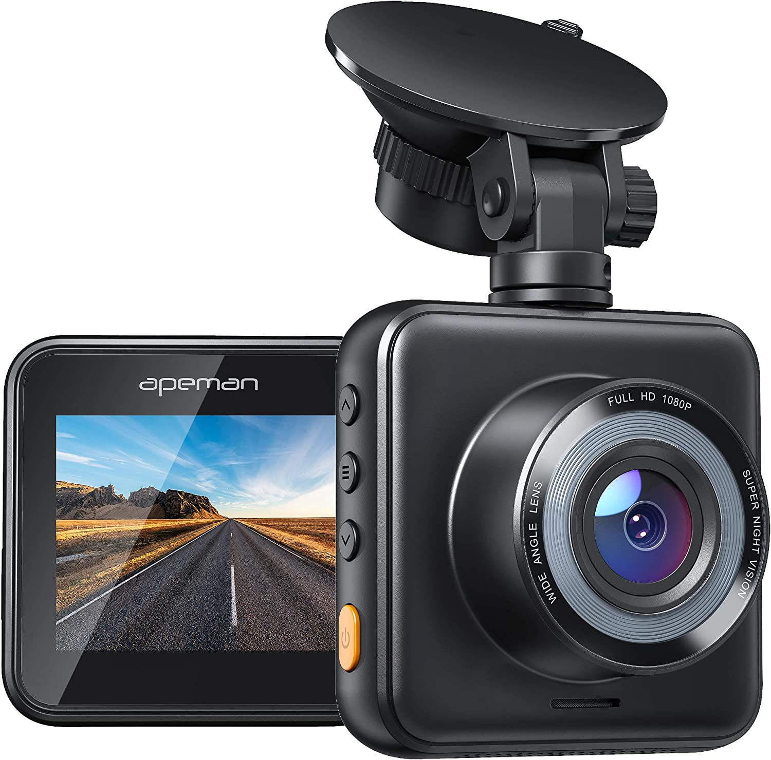 Amazon.com: APEMAN Mini Dash Cam 1080P Dash Camera for Cars Recorder Super  Night Vision, 170° Wide Angle, Motion Detection, Parking Monitoring,  G-Sensor, Loop Recording: Electronics