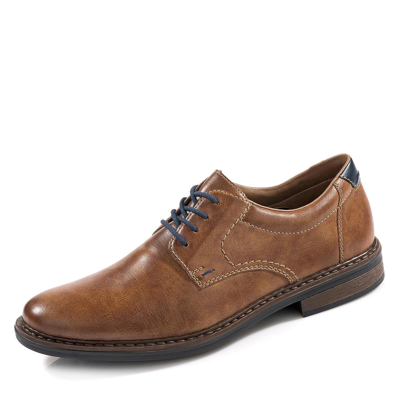 Rieker 17619 - Zapatos de Cordones de Sintético para Hombre Marrón Peanut/Pazifik/24 45 EU Peanut/Pazifik / 24