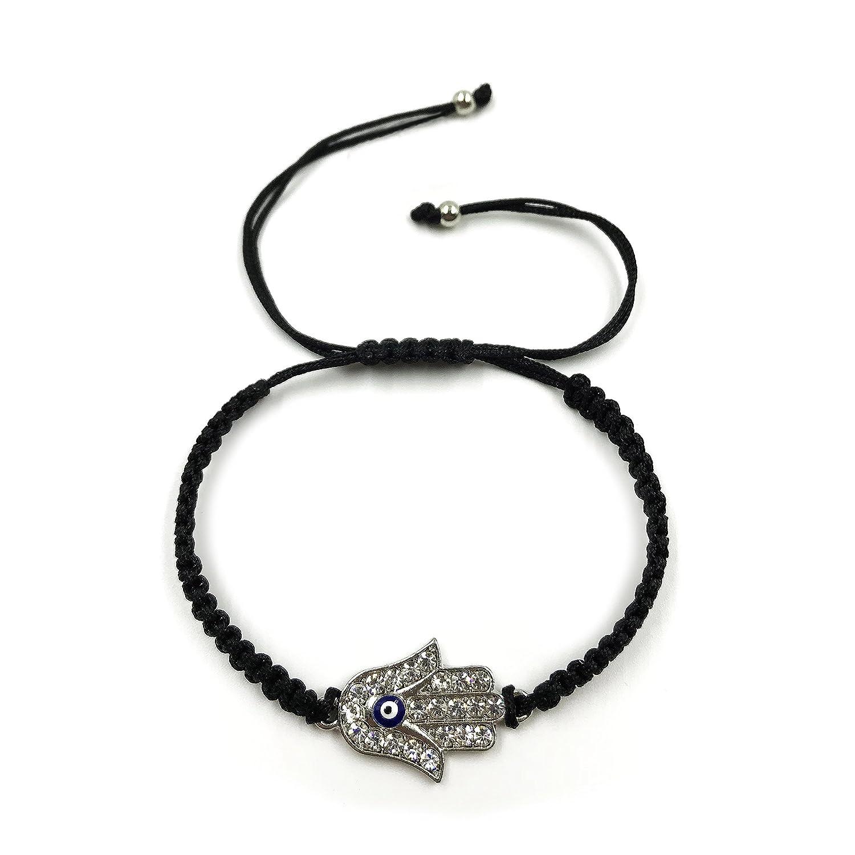2927 Evil Eye Bracelet Black String Hamsa Charm Kabbalah Jewelry for Protection LuckyEye