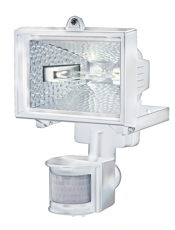 Brennenstuhl Halogenstrahler mit Bewegungsmelder Infrarot schwarz Au/ßenstrahler IP44 gepr/üft, 120 Watt Farbe Flutlicht ideal als Baustrahler