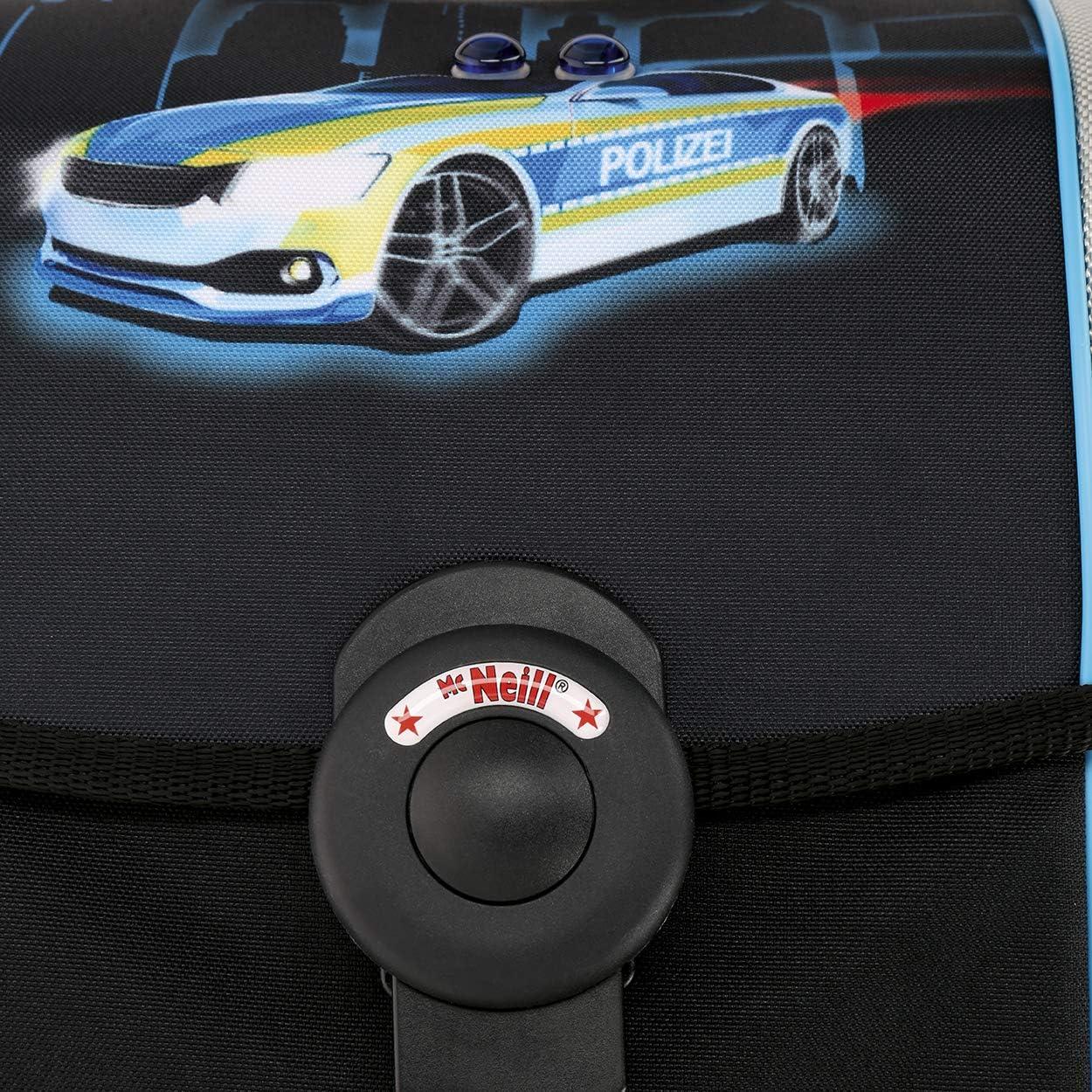 Polizei Police McNeill Ergo Primero Schulranzen-Set 5 TLG - Scooter GRATIS!