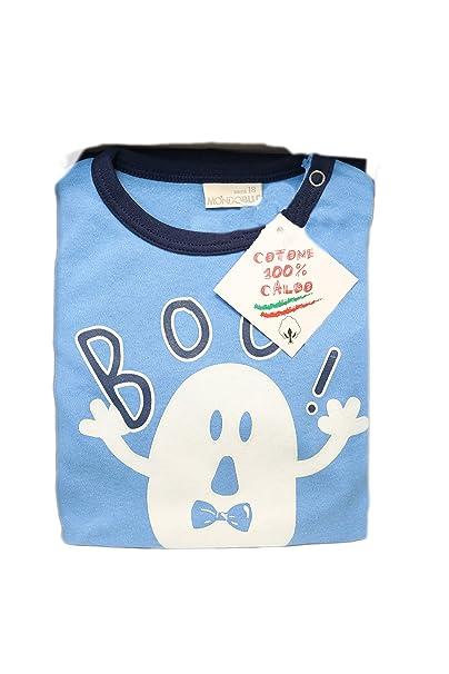 Mondo Blu - Pijama 08-706 para bebé, 100% algodón interlock de algodón