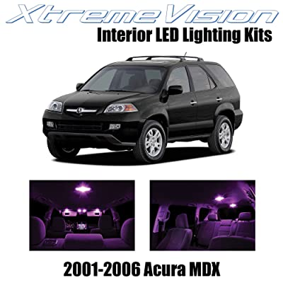 XtremeVision Interior LED for Acura MDX 2001-2006 (14 Pieces) Pink Interior LED Kit + Installation Tool: Automotive