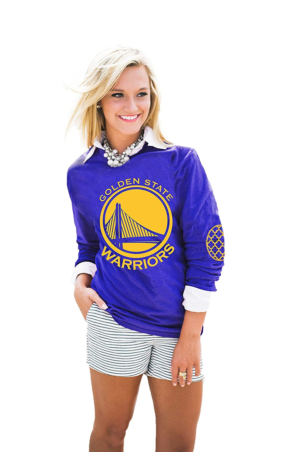 1fd14783f7084 Amazon.com   GOLDEN STATE WARRIORS ELBOW PATCH TEE   Sports   Outdoors