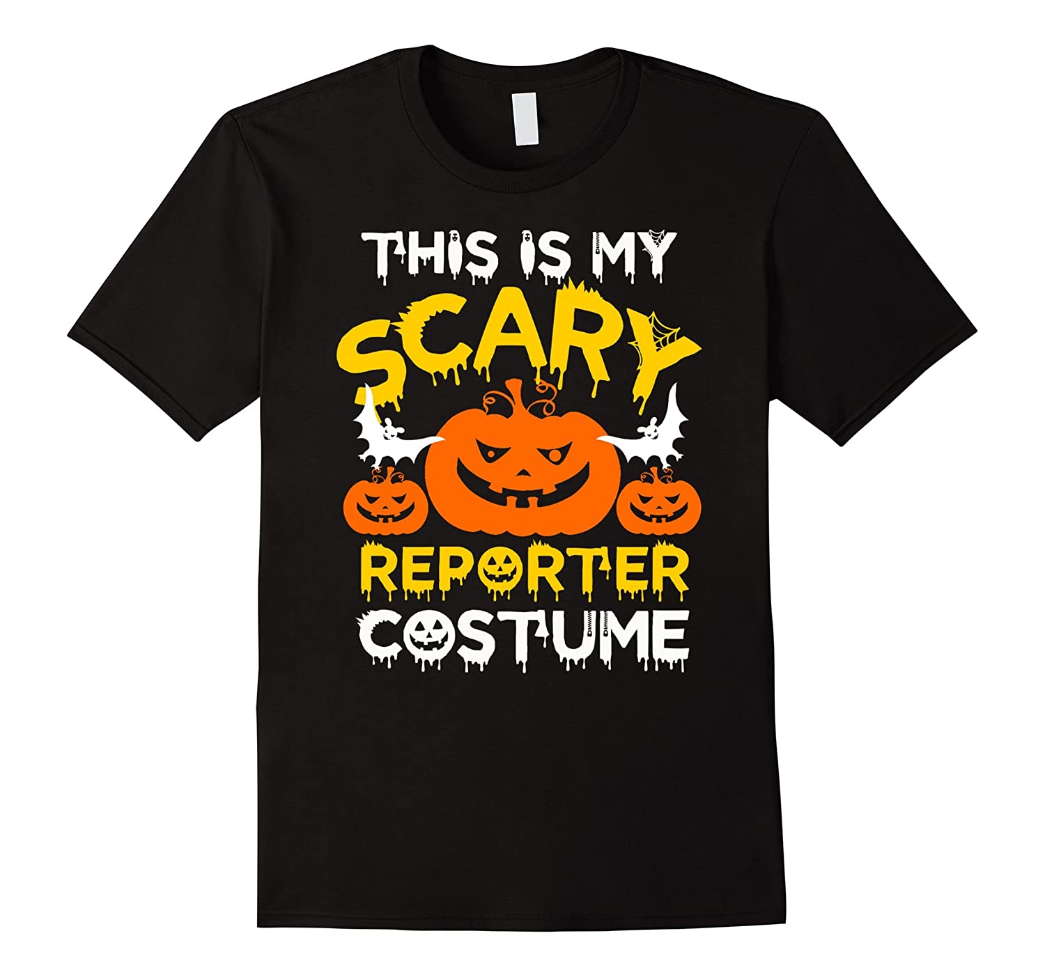 This is My Scary Reporter Costume Halloween T-shirt-PL