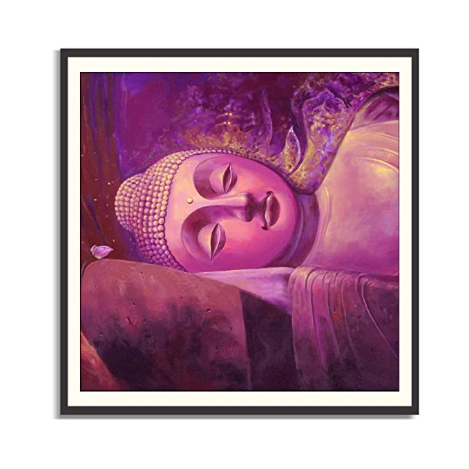 Peaceful Meditating Buddha Painting Sleeping Buddha 3 Pieces Multi ...