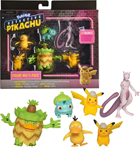 Pokémon Detective Pikachu Figure 6pc Multi-pack NEW IN BOX!